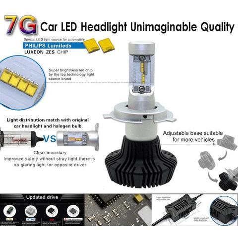 Набор светодиодного головного света UP-7HL-H1W-4000Lm (H1, 4000 лм, холодный белый) Превью 2