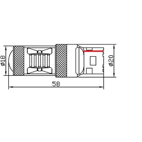 Car Rear-End Brake/Reverse LED Lamp UP-7G-T20SWB-30W(7440) (white, 12-24 V) Preview 1