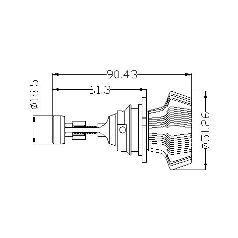 Набор светодиодного головного света UP-7HL-9004W-4000Lm (9004, 4000 лм, холодный белый) Превью 4