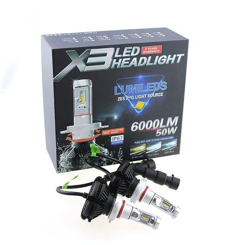 Набор светодиодного головного света UP-X3HL-H4W-6000LM (H4, 6000 лм, холодный белый) - Просмотр 3