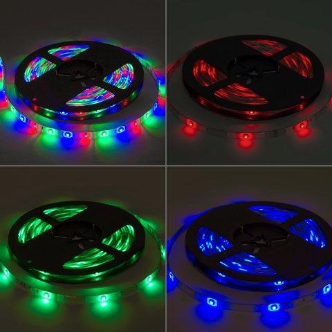 Світлодіодна стрічка SMD3528 (RGB, 60 світлодіодів, 12 В DC, 1 м, IP20) Прев'ю 2