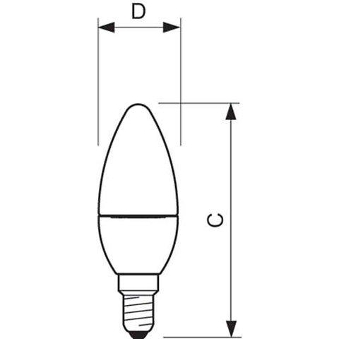 LED-лампа Philips CorePro Candle, WW (теплий білий) , Е14, 5.5 Вт, 470 лм Прев'ю 1
