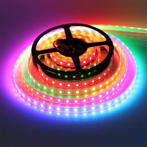 Світлодіодна стрічка RGB SMD5050, WS2815 (чорна, з управлінням, IP20, 12 В, 30 діодів/м, 1 м) Прев'ю 3
